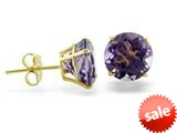 14k Yellow Gold 8mm Round Amethyst Stud Earrings style: E3771A