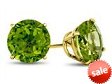 Finejewelers 14k Yellow Gold 7mm Round Peridot Post-With-Friction-Back Stud Earrings style: E4043P14KY