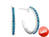 1.5mm Royal Blue Created Spinel Post-With-Fiction-Back Hoop Earrings style: E6778SPBL
