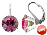 Color Craft™ 10.5mm Round Rose Color Genuine Swarovski Crystal Lever Back Earrings style: E7191SWROSE