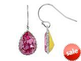 Color Craft™ 14x10mm Pear Shape Rose Genuine Swarovski Crystal Ear Wire Earrings style: E7225SWROSE