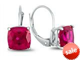Finejewelers 7x7mm Cushion Created Ruby Lever-back Drop Earrings style: E8117CRR10KW