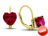 Finejewelers 7x7mm Heart Shaped Created Ruby Lever-back Drop Earrings style: E8119CRR10KY