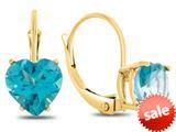 Finejewelers 7x7mm Heart Shaped Coated Paraiba Topaz Lever-back Drop Earrings style: E8119PAR10KY