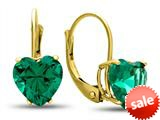 Finejewelers 7x7mm Heart Shaped Simulated Emerald Lever-back Drop Earrings style: E8119SIME10KY
