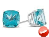 6x6mm Cushion Coated Paraiba Topaz Post-With-Friction-Back Stud Earrings style: E8184PAR