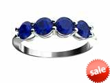 Finejewelers 10 kt White Gold 4mm Created Blue Sapphire 4 Stone Band Ring style: FJC4010KWCRS