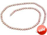 7.5-8.00mm Pink Potato Freshwater Cultured Pearls 24 Inch Necklace style: N743PRLPNK