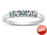 2.5mm Aquamarine and White Topaz Band / Ring style: R10049MUL13