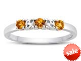 Finejewelers 2.5mm Citrine and White Topaz Band / Ring style: R10049MUL14