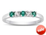 2.5mm Created Emerald and White Topaz Band / Ring style: R10049MUL15