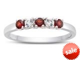 2.5mm Garnet and White Topaz Band / Ring style: R10049MUL18