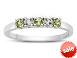 Finejewelers 2.5mm Peridot and White Topaz Band / Ring style: R10049MUL19