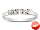 2.5mm Opal and White Topaz Band / Ring style: R10049MUL20