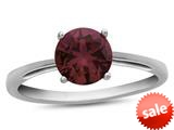 Finejewelers 10k White Gold 7mm Solitaire Round Created Ruby Ring style: R1078204