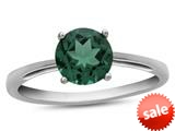 Finejewelers 10k White Gold 7mm Solitaire Round Simulated Emerald Ring style: R1078211