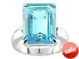 Finejewelers 16x12mm Solitaire Octagon Blue Topaz Ring style: R7670SKY
