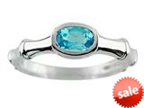 6x4 Oval Blue Topaz Bamboo Ring style: R7905SW