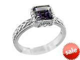 6x6mm Amethyst Ring style: R8283A