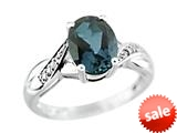 Finejewelers 9x7mm Solitaire Oval London Blue Topaz Ring style: R8502SPLDNA