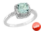 6x6mm Cushion Shaped Aquamarine Ring style: R8625SPAQ