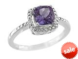 6x6mm Cushion Shaped Amethyst Ring style: R8625SPA