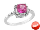 Finejewelers 6x6mm Cushion Shaped Created Pink Sapphire Ring style: R8625SPCRPS
