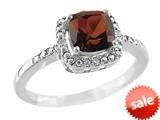 6x6mm Cushion Shaped Garnet Ring style: R8625SPG