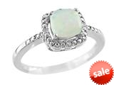 Finejewelers 6x6mm Cushion Shaped Opal Ring style: R8625SPOP