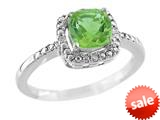 Finejewelers 6x6mm Cushion Shaped Peridot Ring style: R8625SPP