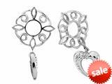Storywheel® Created White Sapphire Heart Dangle Bead / Charm style: W149
