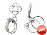 Storywheel® Created White Sapphire Bridal Ring Dangle Bead / Charm style: W181