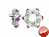 Storywheel® Cab Amethyst Ring Bead / Charm style: W18A