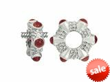 Storywheel® Cab Garnet Ring Bead / Charm style: W18G
