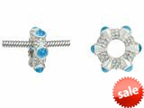 Storywheel® Cab Swiss Blue Topaz Ring Bead / Charm style: W18SW