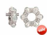 Storywheel® Cab White Topaz Ring Bead / Charm style: W18WT