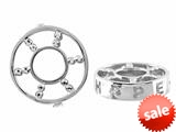 Storywheel® Created White Sapphire Hope Bead / Charm style: W364