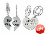 """Storywheel® """"Best Friend"""" Dangle Bead / Charm style: W375"""