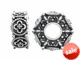 Storywheel® Flower Pattern Pandora Compatible Bead / Charm style: W394