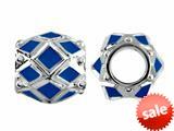 Storywheel® Navy Blue Enamel Bead / Charm style: W408BLU