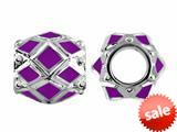 Storywheel® Purple Enamel Bead / Charm style: W408PUR