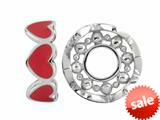 Storywheel® Red Enamel Hearts Bead / Charm style: W419RED