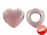 Storywheel® Pink Enamel Puffed Heart Bead / Charm style: W422PNK