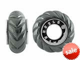 Storywheel® Shrimp Carved Hematite Bead / Charm style: W528