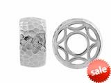 Storywheel® Hammered Finish Sand Finish Bead / Charm style: W535SAN