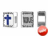 Storywheel® Bible Blue Enamel Cross Bead / Charm style: W630