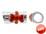 Storywheel® Diploma Red Enamel Ribbon Bead / Charm style: W643