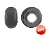 Storywheel® Black Glass Bead / Charm style: W647BLK