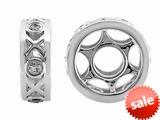 Storywheel® Created White Sapphire XOXO Bead/ Charm style: W649
