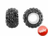 Storywheel® Black Crystal Bead / Charm style: W657BLK